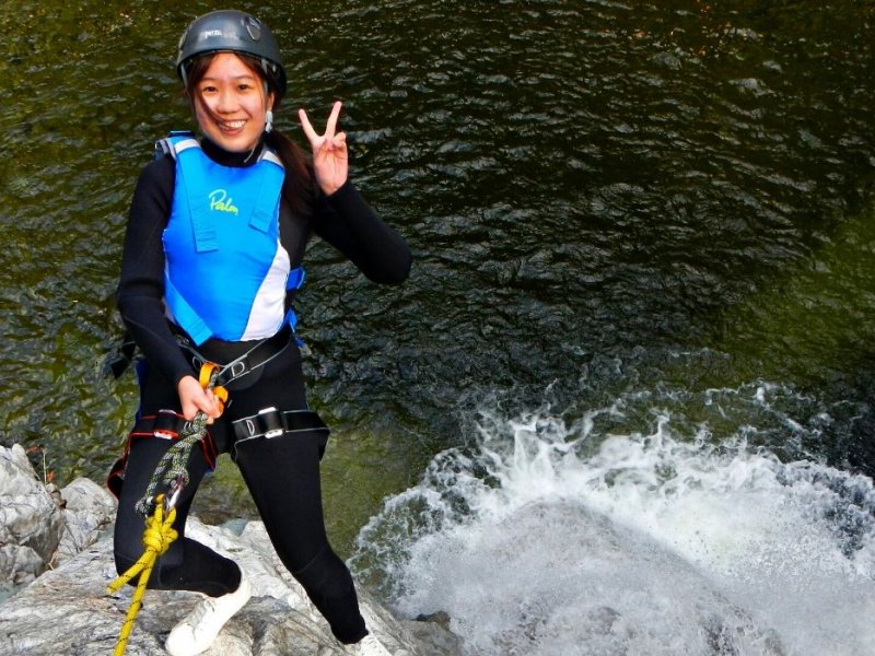 Canyoning near Eungbong Mountain