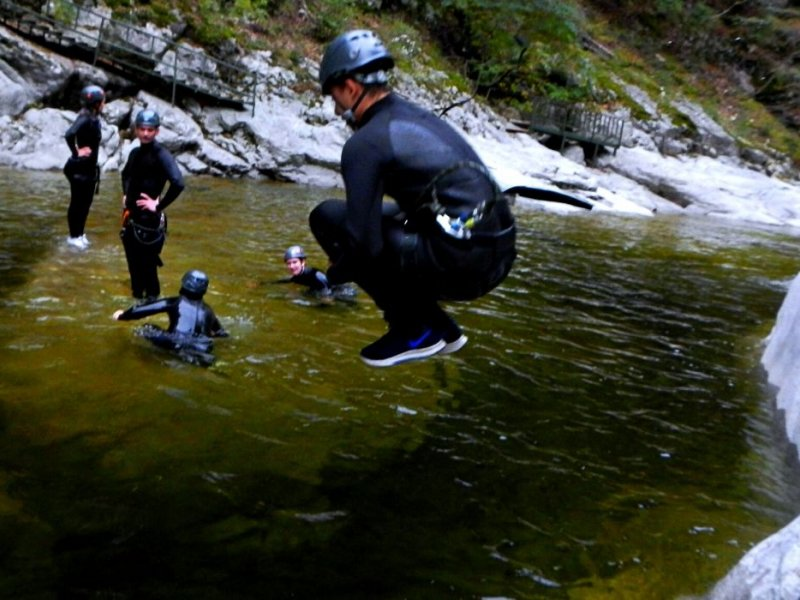 Canyoning near Eungbong Mountain - The Lost Valley Tour